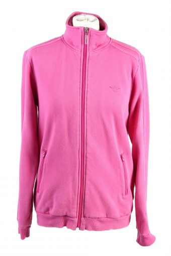 Adidas Track Top 90s Retro High Neck Pink L