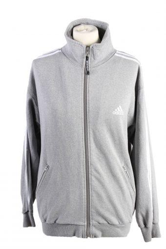 Adidas Womens Full Zip Track Top Grey M