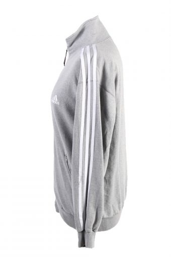 """Vintage Adidas Womens Full Zip Tracksuit Top Chest 38"""" Grey -SW2481-124147"""