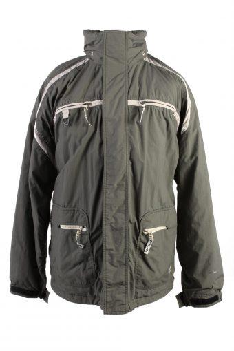 Vintage Fila Lined Mens Puffer Jacket Coat XL Khaki