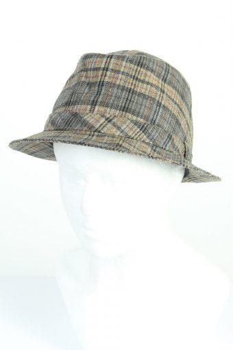Vintage Yorn Fashion Mens Trilby Lined Hat