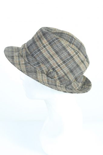 Vintage Yorn 1970s Fashion Mens Trilby Lined Hat Multi HAT1222-124670