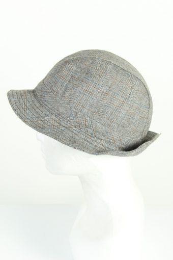 Vintage Chic 1970s Fashion Mens Short Brim Lined Hat Grey HAT1225-124682