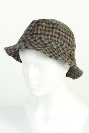 Vintage Fashion Mens Short Brim Lined Hat