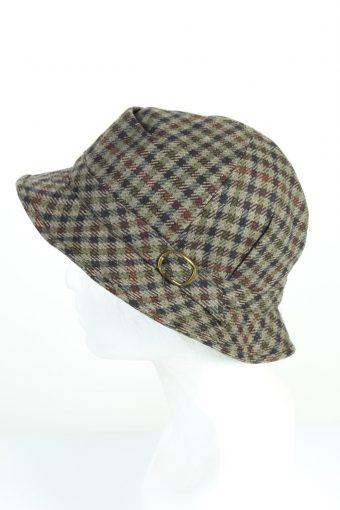 Vintage 1970s Fashion Mens Short Brim Lined Hat Multi HAT1227-124690