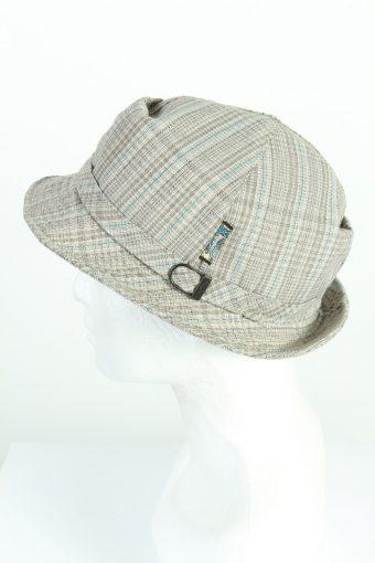 Vintage 1970s Fashion Mens Short Brim Lined Hat Multi HAT1228-124694