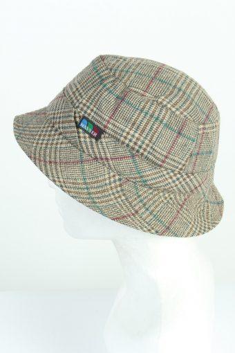 Vintage Mayser 1970s Fashion Mens Short Brim Lined Hat Multi HAT1230-124702