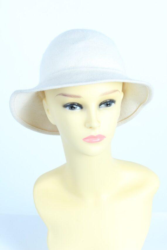 Vintage 1990s Fashion Womens Trilby Hat White HAT1235-0