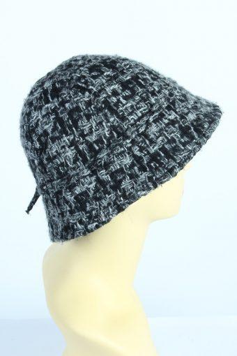 Vintage H&M 1970s Fashion Womens Short Brim Knit Hat Grey HAT1256-125167