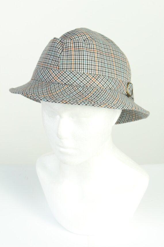 Vintage C&A Canda 1990s Fashion Mens Brim Lined Hat Multi HAT1265-0