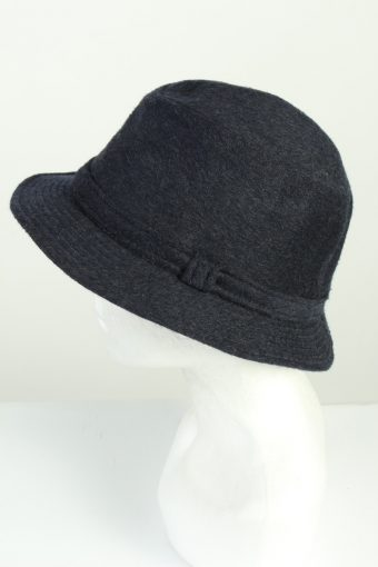 Vintage Henry Stanley 1980s Fashion Mens Trilby Lined Hat Dark Blue HAT1270-125596