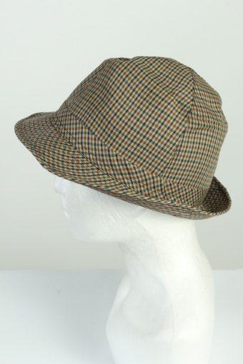 Vintage Fashion Hat 1980s Fashion Mens Trilby Lined Hat Multi HAT1277-125624
