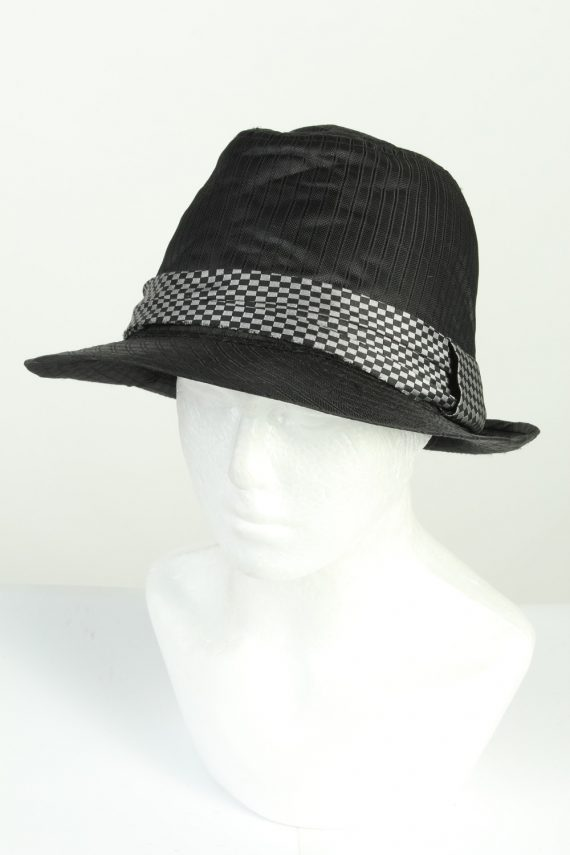 Vintage Stanton 1980s Fashion Mens Trilby Hat Black HAT1278-0
