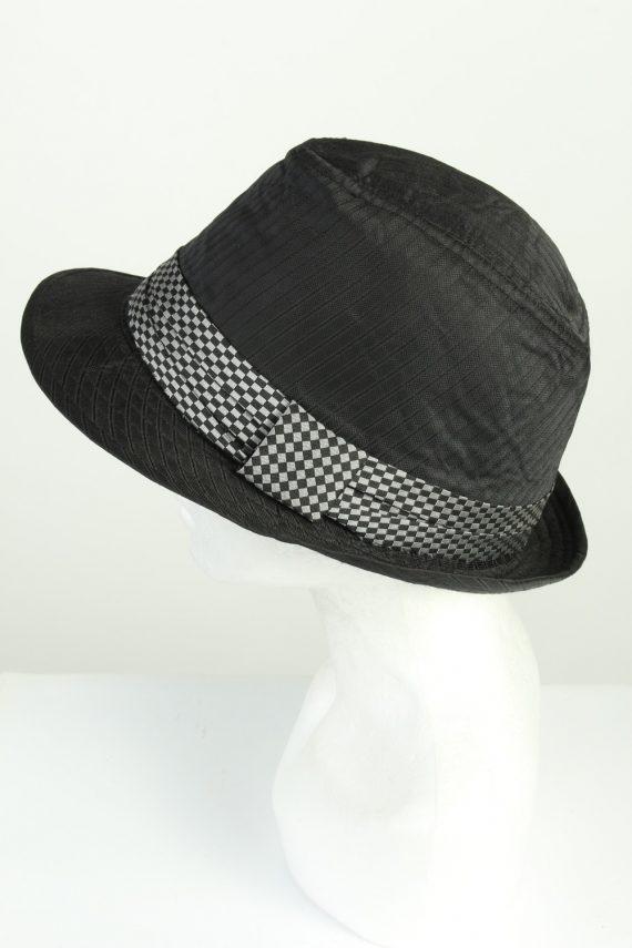 Vintage Stanton 1980s Fashion Mens Trilby Hat Black HAT1278-125628