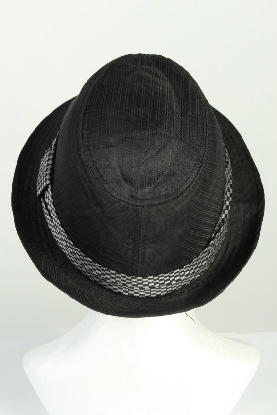 Vintage Stanton 1980s Fashion Mens Trilby Hat Black HAT1278-125629