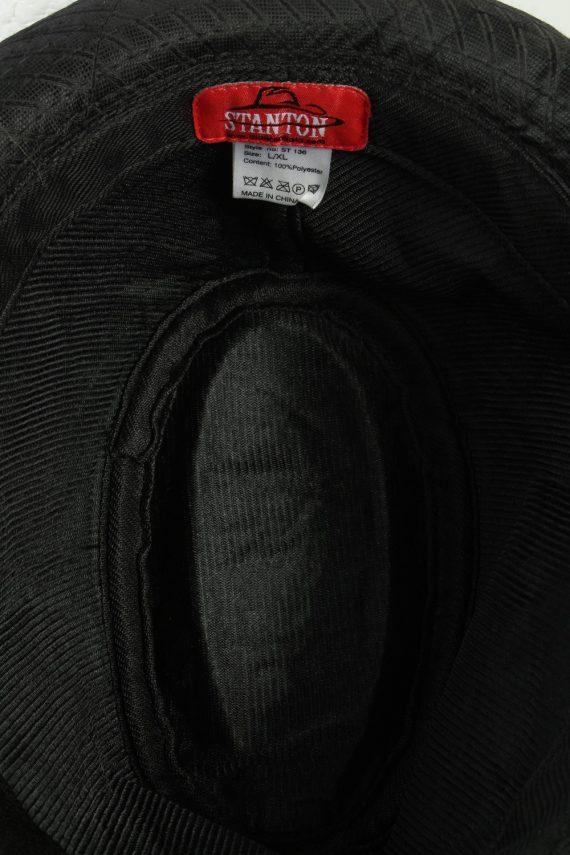 Vintage Stanton 1980s Fashion Mens Trilby Hat Black HAT1278-125630