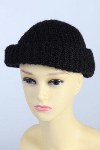 Vintage Fashion Womens Knit Brim Lined Hat