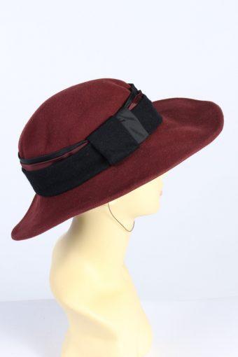 Vintage Anneliese Kuhn 1990s Fashion Womens Trilby Hat Bordeaux HAT1297-126071