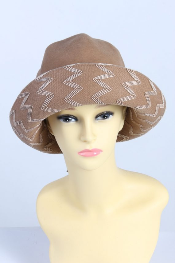 Vintage 1980s Fashion Womens Trilby Hat Brown HAT1302-0