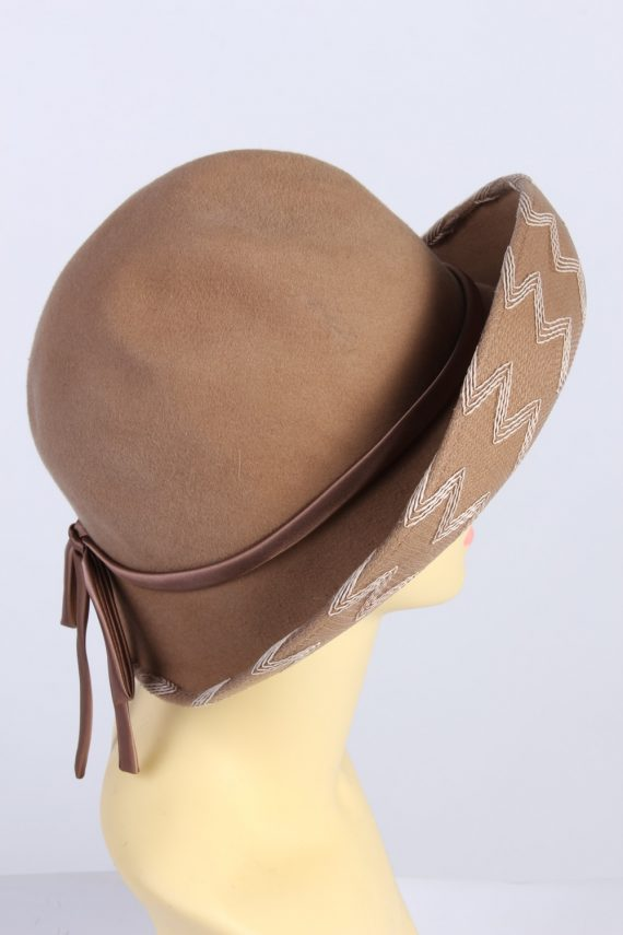 Vintage 1980s Fashion Womens Trilby Hat Brown HAT1302-126091