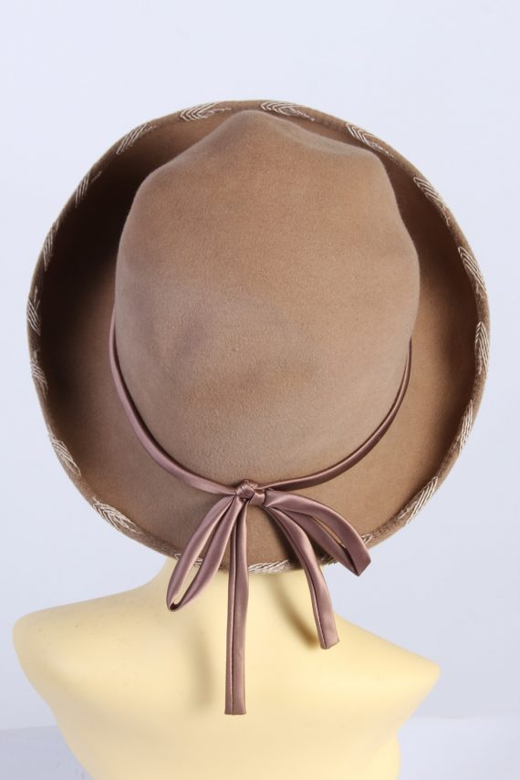 Vintage 1980s Fashion Womens Trilby Hat Brown HAT1302-126092
