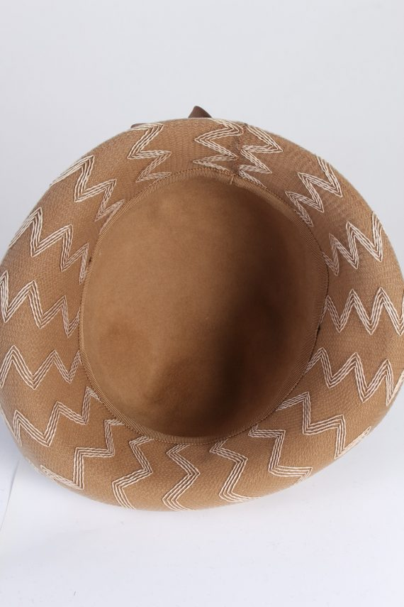 Vintage 1980s Fashion Womens Trilby Hat Brown HAT1302-126093