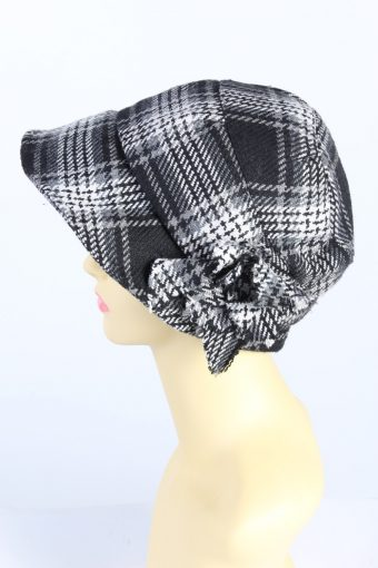 Vintage Ernstings Family 1970s Fashion Womens Brim Winter Hat Multi HAT1313-126135