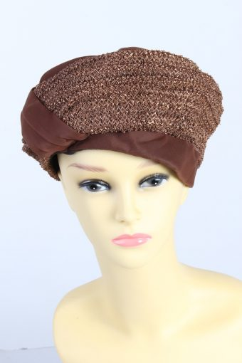 Vintage Fashion Womens Lined Ribbon Hat