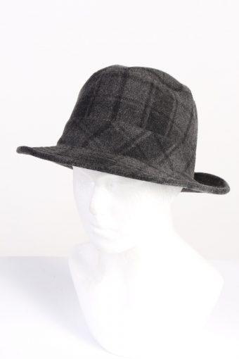 Vintage Fashion Mens Trilby Lined Hat