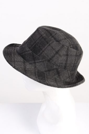 Vintage 1980s Fashion Mens Trilby Lined Hat Grey HAT1341-126247