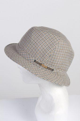Vintage 1970s Fashion Mens Trilby Hat Multi HAT1342-126251