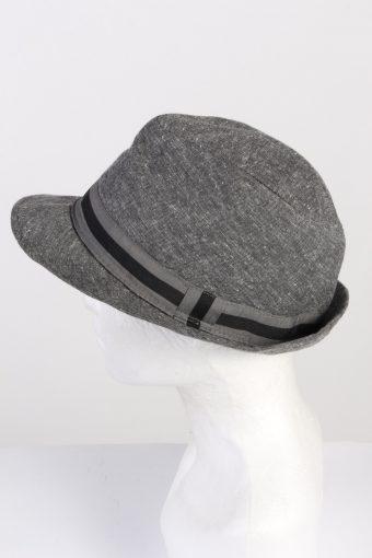 Vintage Chapter 1970s Fashion Mens Trilby Hat Grey HAT1346-126267