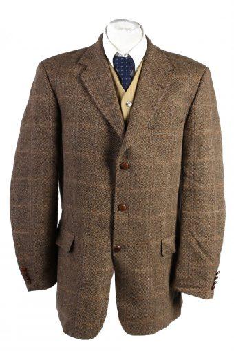 Harris Tweed Blazer Jacket Barutti Classic Windowpane XXL