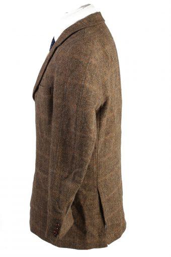 "Vintage Harris Tweed Barutti Classic Windowpane Blazer Jacket Chest 48"" Multi HT2692-126649"