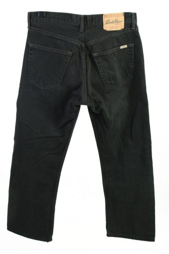 Vintage Levis High Waist Unisex Jeans W33 L28 Black J4432-124466
