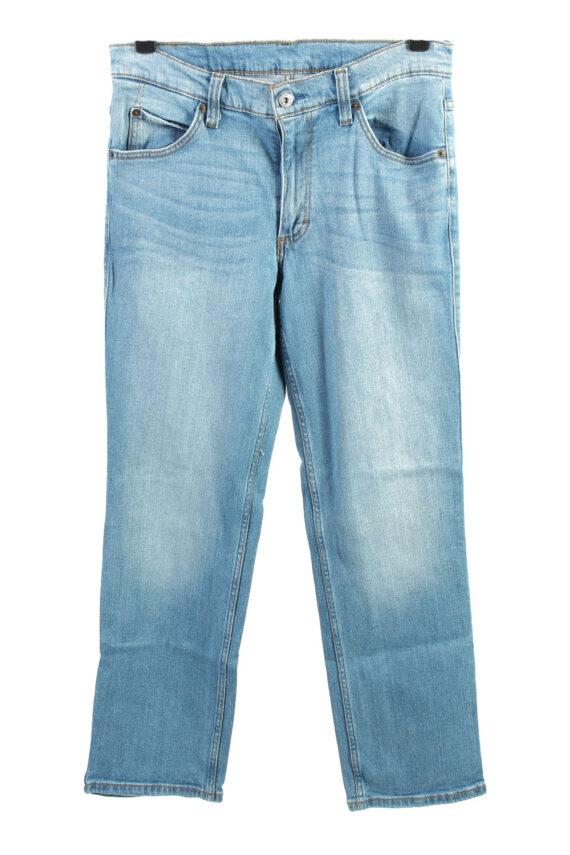 Vintage Mustang Mid Waist Womens Jeans W32 L30.5 Blue J4444-0