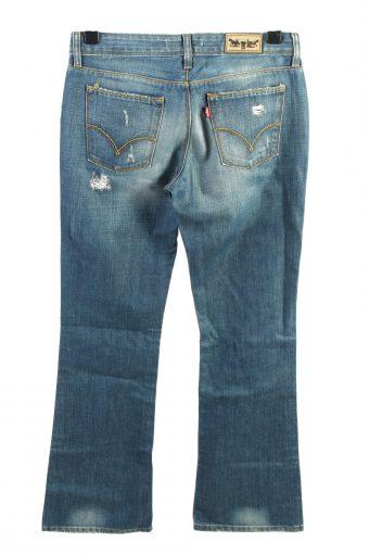 Vintage Levis 572 Boot Cut Mid Waist Womens Jeans W32 L33 Blue J4452-124546
