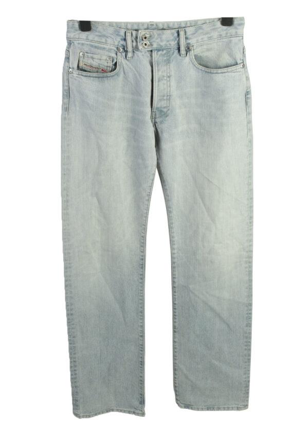 Vintage Diesel Mid Waist Unisex Denim Jeans W32 L35 Ice Blue J4469-0