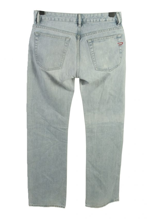 Vintage Diesel Mid Waist Unisex Denim Jeans W32 L35 Ice Blue J4469-124979