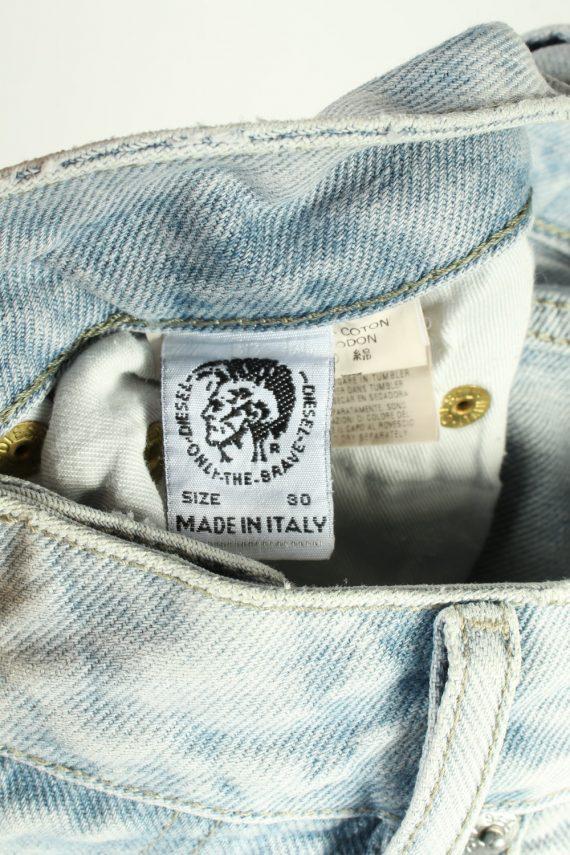 Vintage Diesel Mid Waist Unisex Denim Jeans W32 L35 Ice Blue J4469-124981