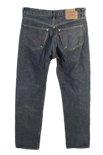 Vintage Levis 501 High Waist Unisex Denim Jeans W32 L34 Dark Blue J4478-125015