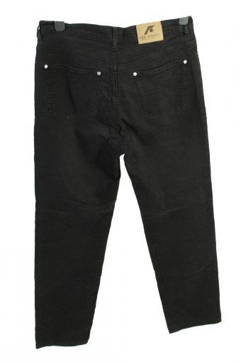 Vintage Lee Cooper High Waist Unisex Lightweight Trouser Jeans W33 L29.5 Black J4489-125059
