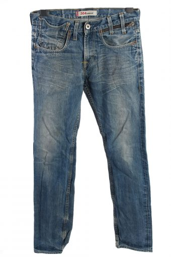 Levi's 504 Straight Mid Waist Unisex Jeans W32 L34