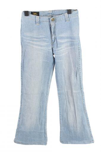 Lee Kiana Fla Leg Mid Waist Womens Jeans W26 L27 Ice