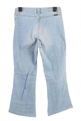Vintage Lee Kiana Flared Leg Mid Waist Womens Denim Jeans W26 L27 Ice Blue J4571-126485