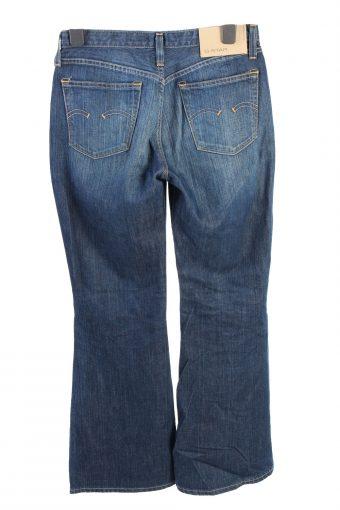 Vintage G-Star Low Hip Flared Leg Mid Waist Womens Denim Jeans W28 L30.5 Mid Blue J4573-126493