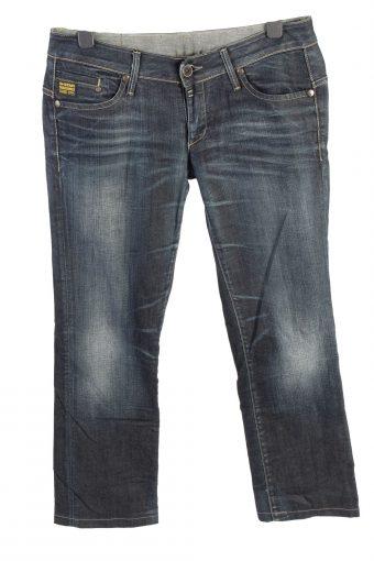 G-Star Mid Waist Womens Denim Jeans Straight W35 L29