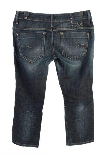 Vintage G-Star Mid Waist Womens Denim Jeans W35 L29 Dark Blue J4575-126501