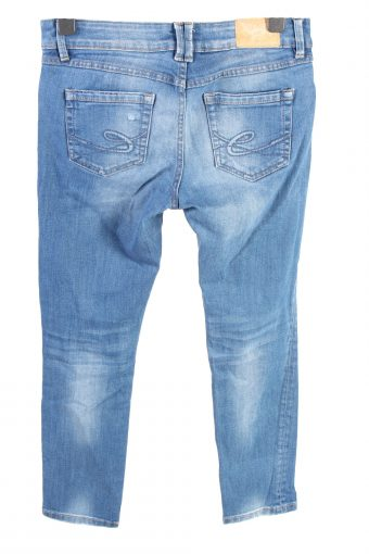 Vintage Edc By Esprit Mid Waist Womens Denim Jeans W32 L28 Mid Blue J4579-126517