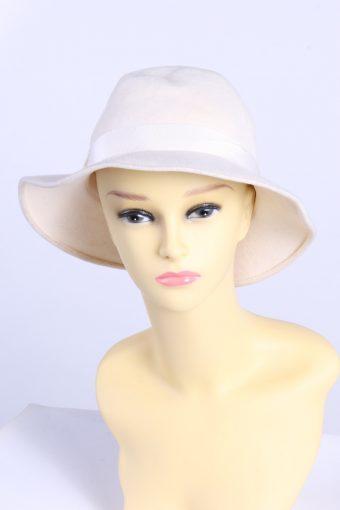 Vintage CA Fashion Womens Trilby Ribbon Hat
